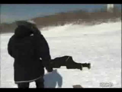 WATCH: News Reporter NAILED by sled