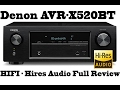 Denon 4K receiver AVR X520BT, 130W Hiress, 52 channels, testing with Studio MIC - FULL REVIEW