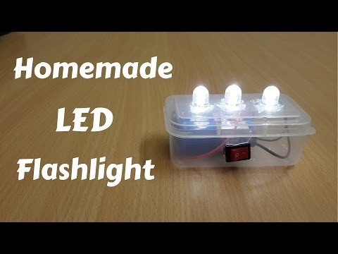 How to Make a Homemade Mini LED Flashlight - DIY