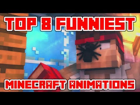 "Minecraft Videos ""Try Not To Laugh Or Grin In Minecraft - TOP 8 Funniest Minecraft Animations"