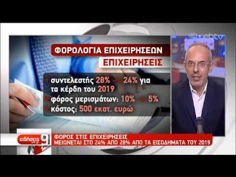 Μείωση της φορολογίας στις επιχειρήσεις | 22/08/2019 | ΕΡΤ