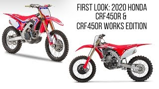 9. First Look: 2020 Honda CRF450R Works Edition & CRF450R