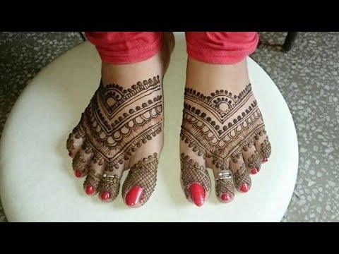 beautiful pakistani bridal foot mehndi design tutorial