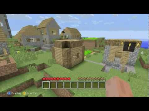 Mob Spawner/Village Near Spawn + Seed ( Minecraft Xbox 360 )