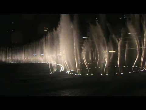 "Dubai Fountain: ""Lionel Richie - All Night Long"""