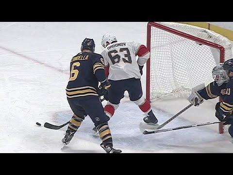 Video: Sabres' Lehner makes two desperation saves against Panthers