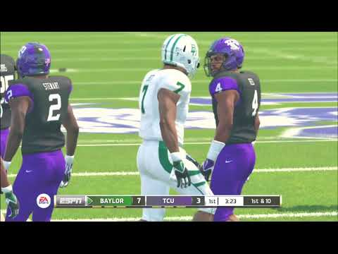 (Baylor Bears vs TCU Horned Frogs) PS3 (NCAA Football 20 2019 2020 Season) 11/09/19