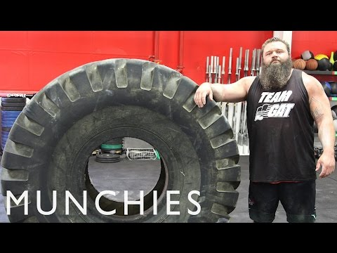 fuel - Recipe: Strongman Pasta Asciutta - http://bit.ly/10nuBwf In this episode of FUEL, a new series dedicated to the high-performance diets of athletes, we follow Robert Oberst—aka Obie—one...