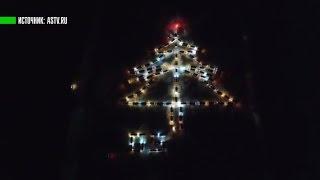 Снежинки и ёлки из легковушек: новогодний флешмоб российских водителей