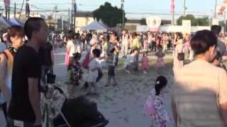 羽黒の夏祭り(7)親子で踊ろう未来園