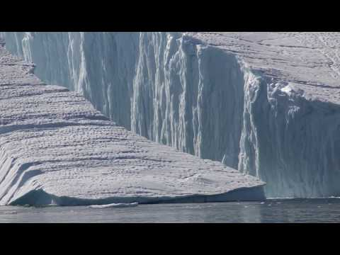 Large Iceberg Breaks Into Two Parts