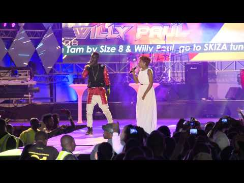 "Size 8 And Willy Paul Performing ""tam Tam Remix"" Groove Party"