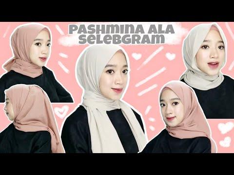 TUTORIAL HIJAB PASHMINA TERBARU 2020 - Ala Selebgram hijab bervolume || Novah Safitri