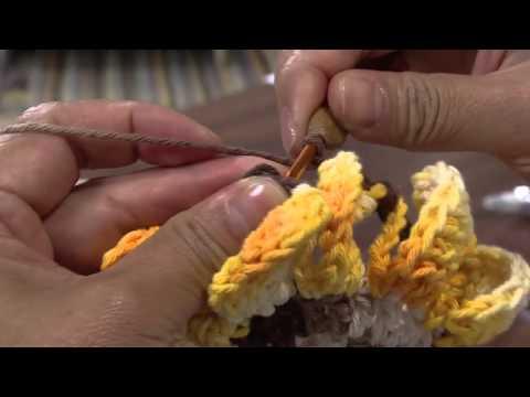 Mulher.com 25/04/2013 Cristina Luriko - Crochê tapete gomos de laranja Parte 1