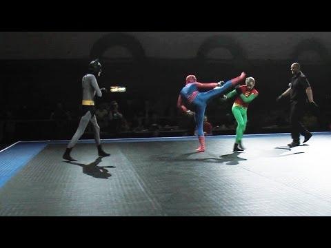Batman and Robin vs Spider-Man – Full MMA Fight