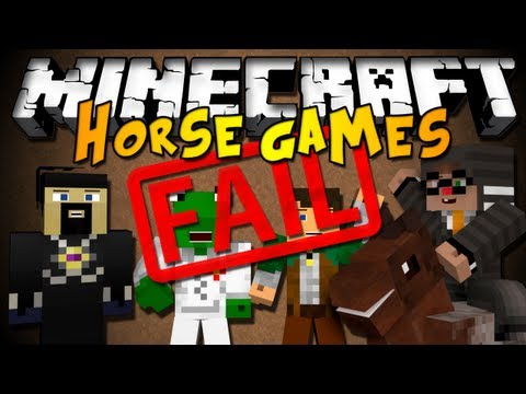 Minecraft Mini-Game: The Horse Games of FAIL w/ Chim & Friends! (HD)