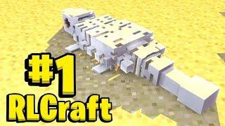 Minecraft But Its MEGA Hardcore - Minecraft RLCraft Modpack #1 | JeromeASF