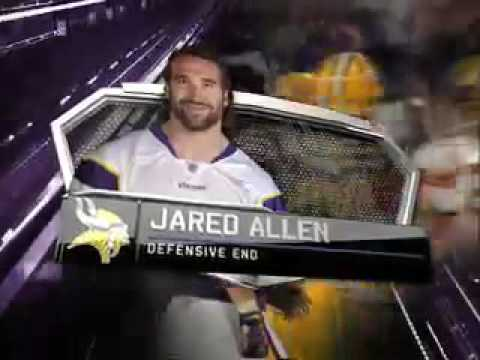 2010 NFL PLAYER OF THE YEAR AWARDS AS NARRATED BY BILL VOGEL  Jared Allen – 69 -