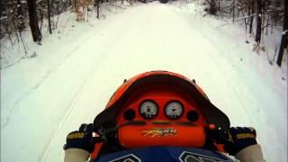 3. Trail Riding Cadillac MI 1/15/2012 Pro X 440 Fan