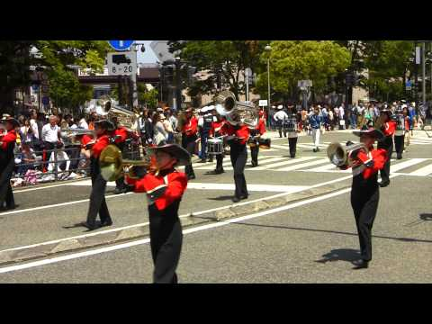 HONEY QUEENS・日本大学高校中学校吹奏楽部 Yokohama Parade 2014 (Super 14-15) ザよこはまパレード2014
