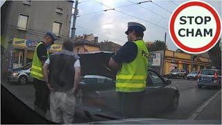 Zatrzymanie pijanego kierowcy w Katowicach. Jechał bez opon