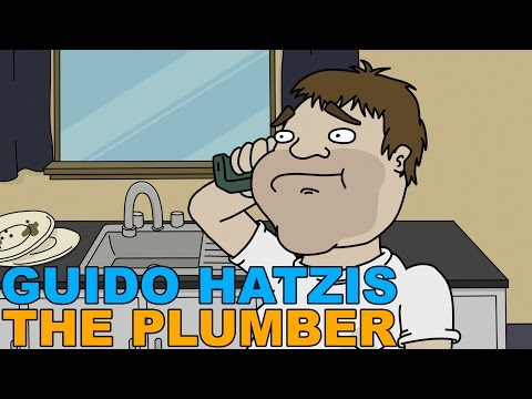 When the prankee enjoys the call more than the pranker; Radio presenter's character Guido (the conceded Greek) answers an ad in the paper for a plumber - illustrated.