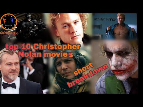 Top 10 Christopher Nolan movies | malayalam| Fury Friend.|