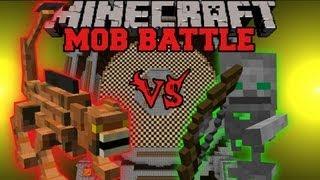 Manticore Vs. Skeleton Friend - Minecraft Mob Battles - Dungeon Mobs Mod