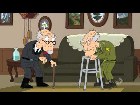Family Guy - Herbert and Nazi Lieutenant Epic Fight!!