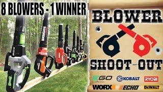 7. Best Cordless Blower Review EVA!!  EGO Worx DeWalt Ryobi Echo Kobolt Greenworks 2019