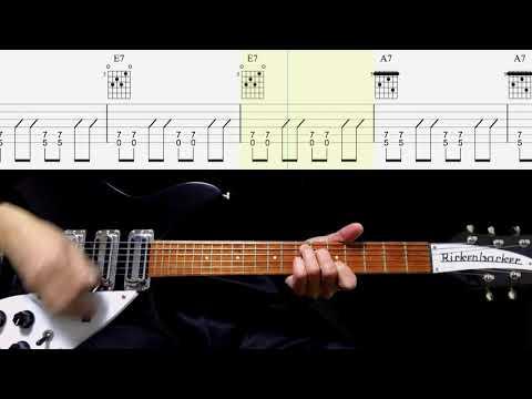 Guitar TAB  Ain39t She Sweet Rhythm Guitar - The Beatles