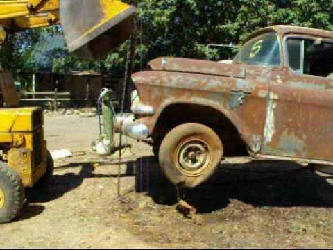 Part1 57 GMC engine removal. Redneck Restoration's