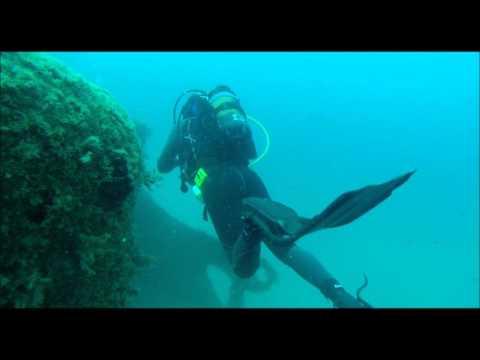 buceo  en barco  hundido EL LITRI  2014