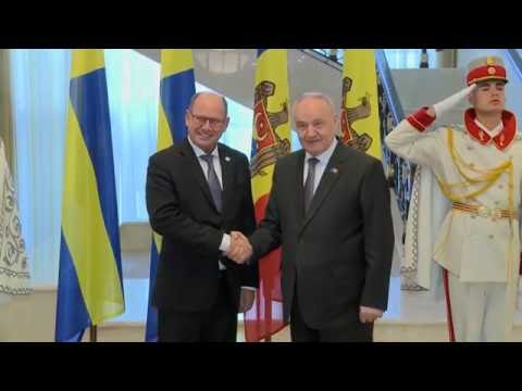 Moldovan president receives Swedish parliament speaker