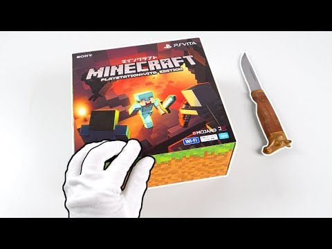 "PlayStation Vita ""MINECRAFT"" Console Unboxing! (PS Vita Special Edition)"