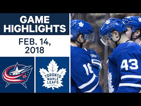 Video: NHL Game Highlights | Blue Jackets vs. Maple Leafs - Feb. 14, 2018