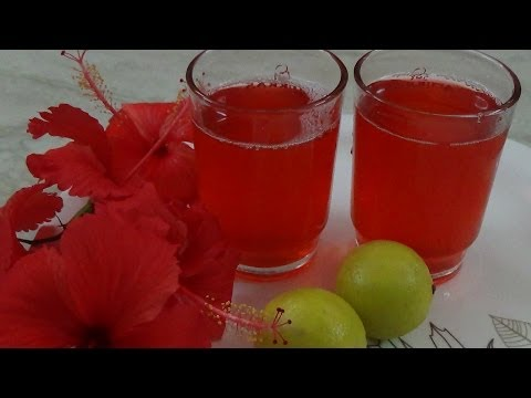 Hibiscus Juice-Summer Special Dish By Healthy Food Kitchen-Recipe in English