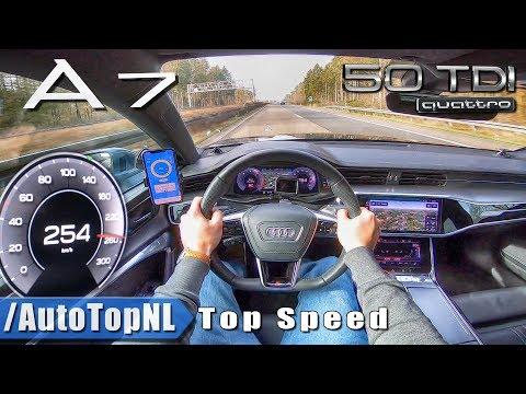 AUDI A7 Sportback 3.0 TDI AUTOBAHN POV 254km/h TOP SPEED by AutoTopNL
