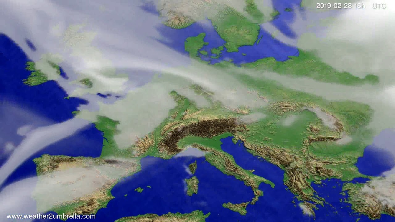#Weather_Forecast// Cloud forecast Europe 2019-02-27