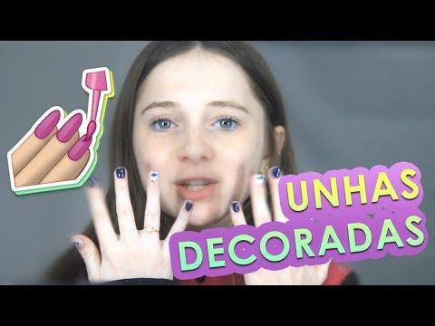 UNHAS DECORADAS COM ADESIVO  Julia Jubz
