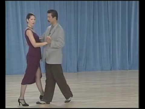 основные фигуры аргентинского танго - 08 Ochos para atras(1 часть)