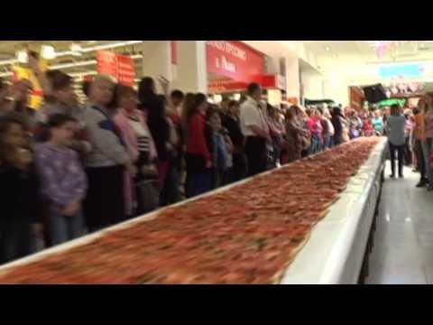 В Одессе представили рекордную пиццу