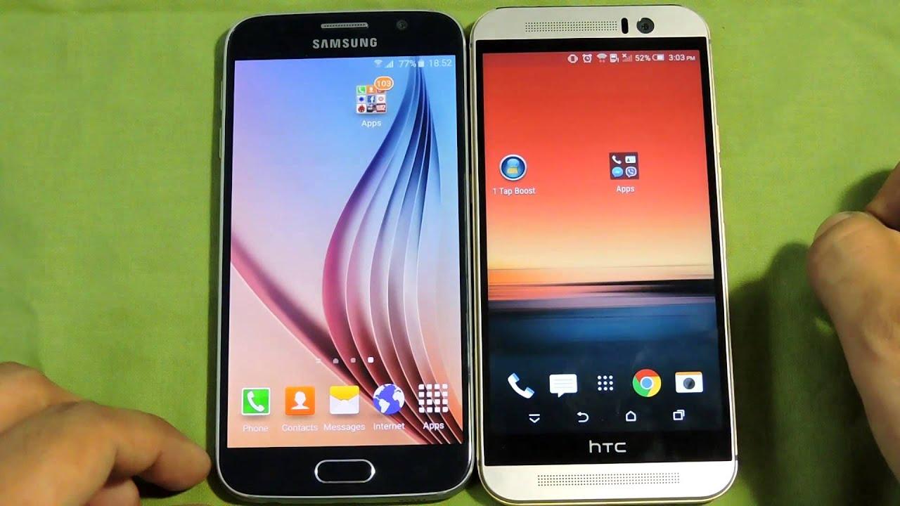 Descargar SAMSUNG GALAXY S6 VS HTC ONE M9 OPENING APPS SPEED COMPARISON para Celular  #Android