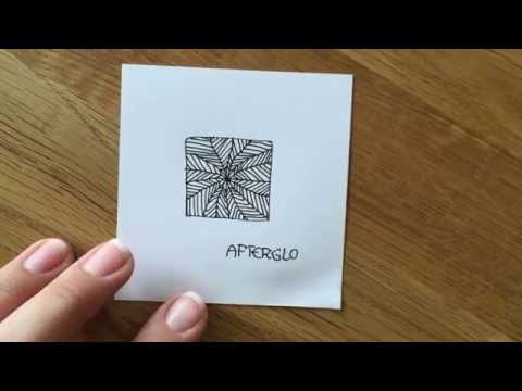 """Zentangle®  Muster: """"Afterglo"""" with Bunte Galerie"""