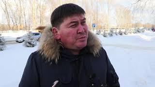 Снегопад и уборка улиц в Усть-Каменогорске