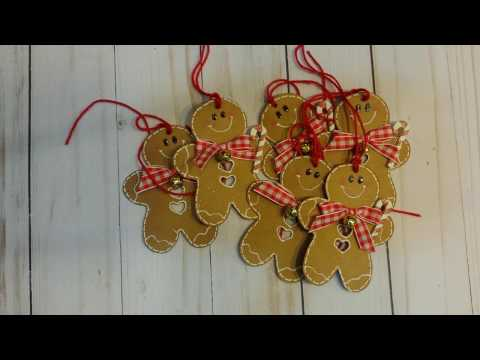 Gingerbread Men Tags