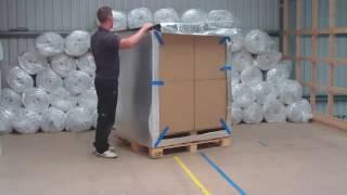 Συσκευασία παλέτας με θερμική προστασία
