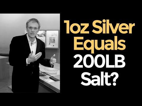 silver - More: https://www.hiddensecretsofmoney.com/blog/1ozsilverequals200lbsaltmikemaloney One of the hardest things I've ever done in my life is editing the series...