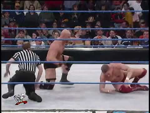 Stone Cold & The Rock vs Kurt Angle & William Tag Team Match Part 2
