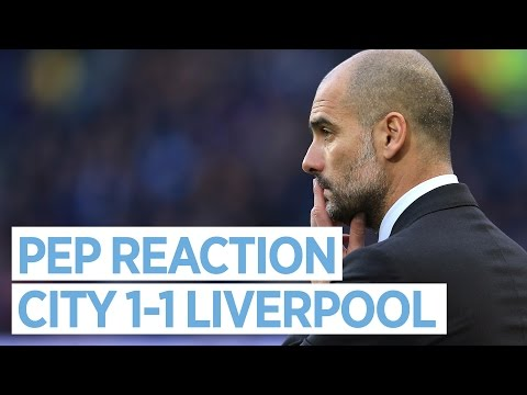 Video: 'I WANT TO STAY WITH THESE GUYS A LONG TIME!' | Man City 1-1 Liverpool | Guardiola Reacts